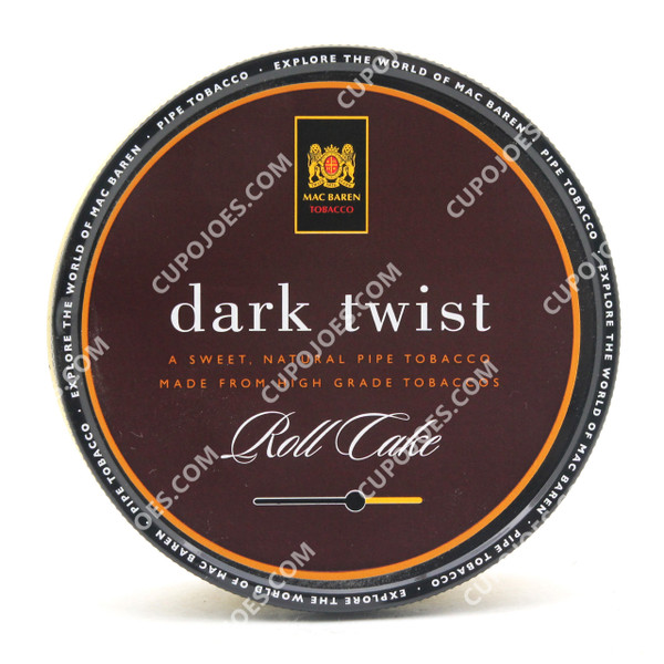 Mac Baren Dark Twist Roll Cake 3.5 Oz Tin