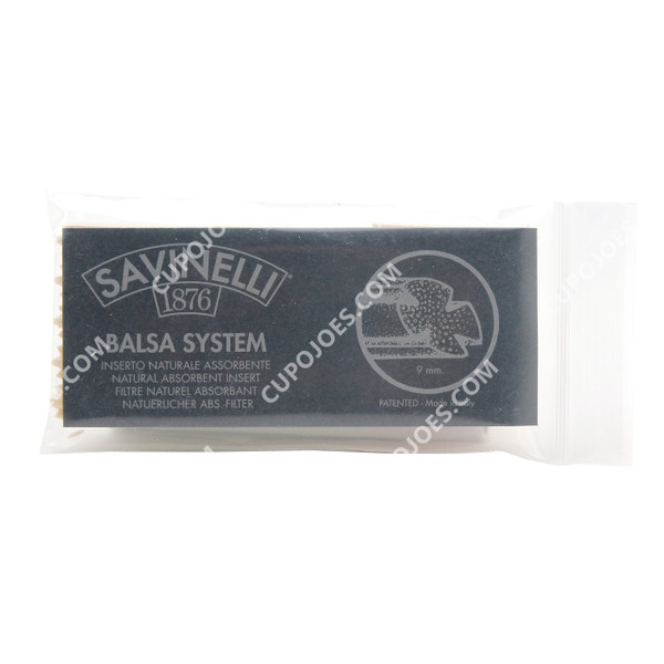 Savinelli 9mm Balsa Filter Pack of 15