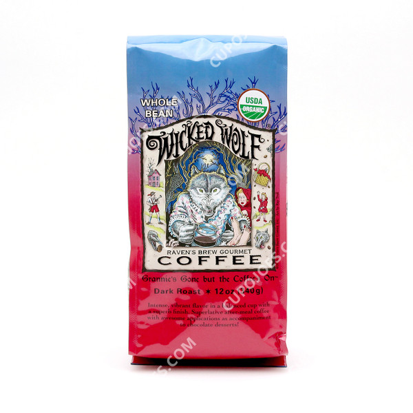 Raven's Brew Coffee Wicked Wolf Organic 12 Oz.