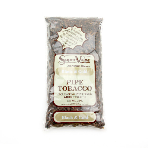 Super Value Black & Gold Pipe Tobacco 12 Oz Bag