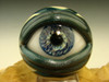 Glass Art Human Eyeball Marble Lampwork Eye Freaky Oddity by K Talamas