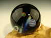 Space Scene Glass Art Marble by KIMMO Opal Comet Planet Moon Galaxy orb Sphere