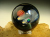 Glass Space Scene Art Marble by KIMMO Opal Comet Planet Moon Galaxy orb Sphere