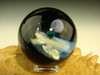Large Glass Space Scene Art Marble by KIMMO Opal Comet Planet Moon Galaxy orb Sp