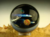 Space Scene Large Glass Art Marble by KIMMO Opal Comet Planet Moon Galaxy orb Sp