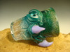 Hand blown Shot Glass Flameworked Art Horny Monster eye by Eli Mazet (ready to s