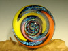 Dichroic Glass Vortex Marble Wig Wag Illusion Art Fibonacci Spiral by Tim Mazet