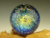 Dichroic Glass Galaxy Marble Illusion Spiral Art Orb by Tim Mazet VGW blue, gree