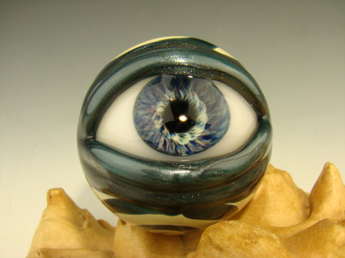 glass eye marble by Kenny Talamas
