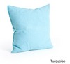 Fringed Design Down Filled Linen Throw Pillow