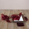 Classic Plain Sheer Tissue Dinner Napkins, Set of 4