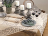 Fennco Styles Embroidered Floral Border Table Runner/ Tablecloth