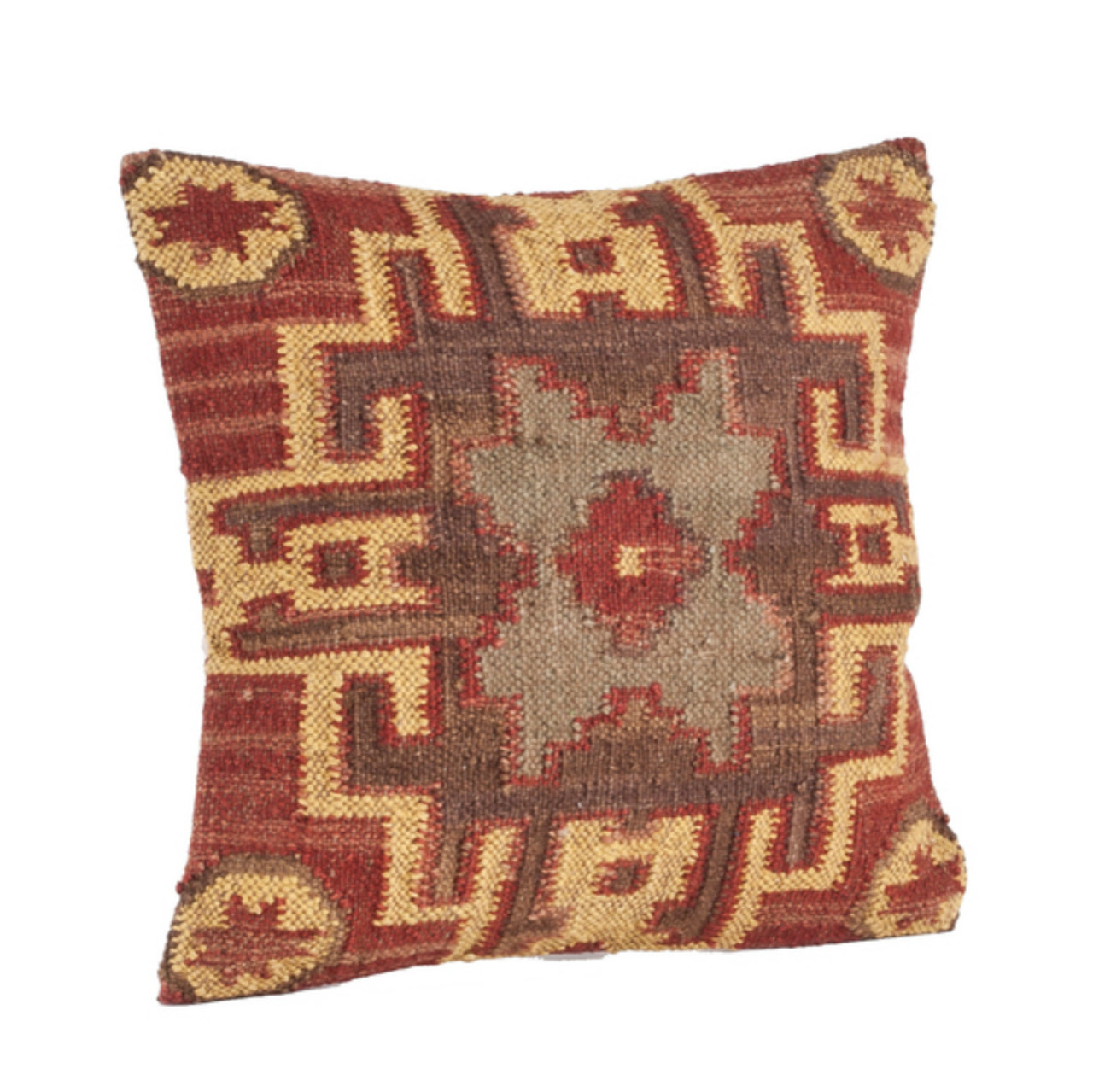 Traditional Accent Pillows : Traditional Kilim Down Throw Pillow