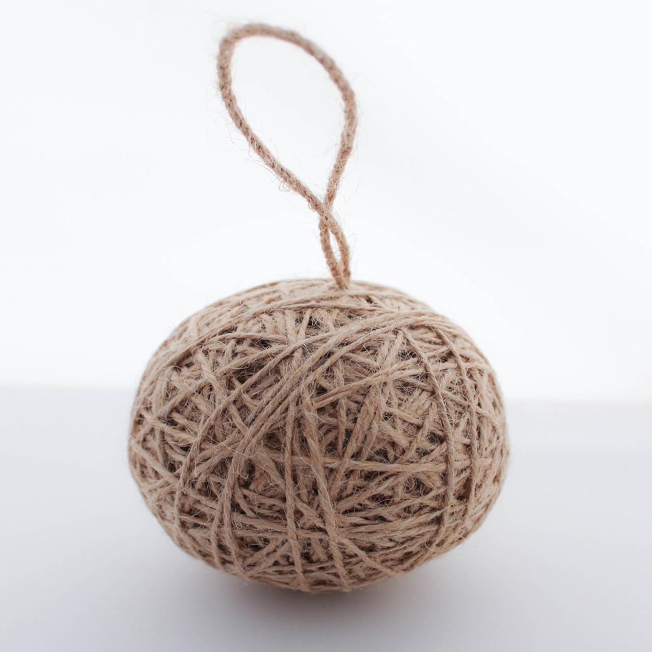 Burlap christmas tree twine jute ball ornaments