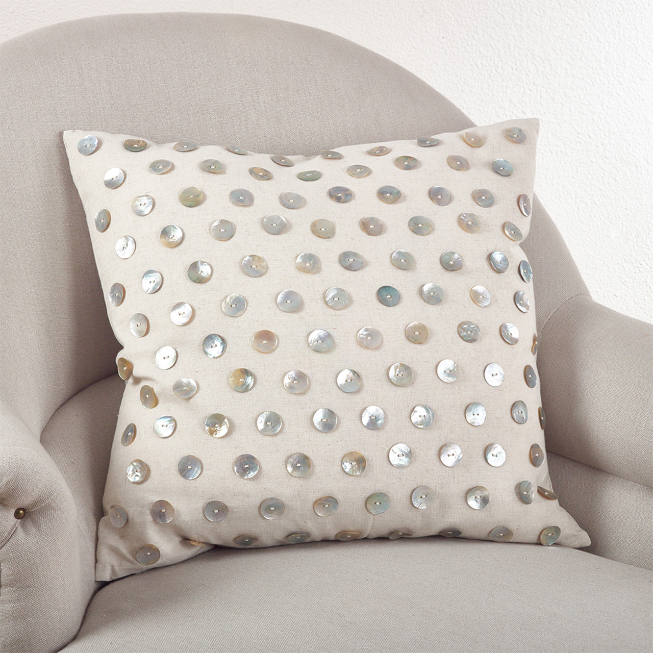Average Throw Pillow Sizes : Mother of Pearl Down Filled Throw Pillow, Natural, 2 Sizes - www.fenncostyles.com