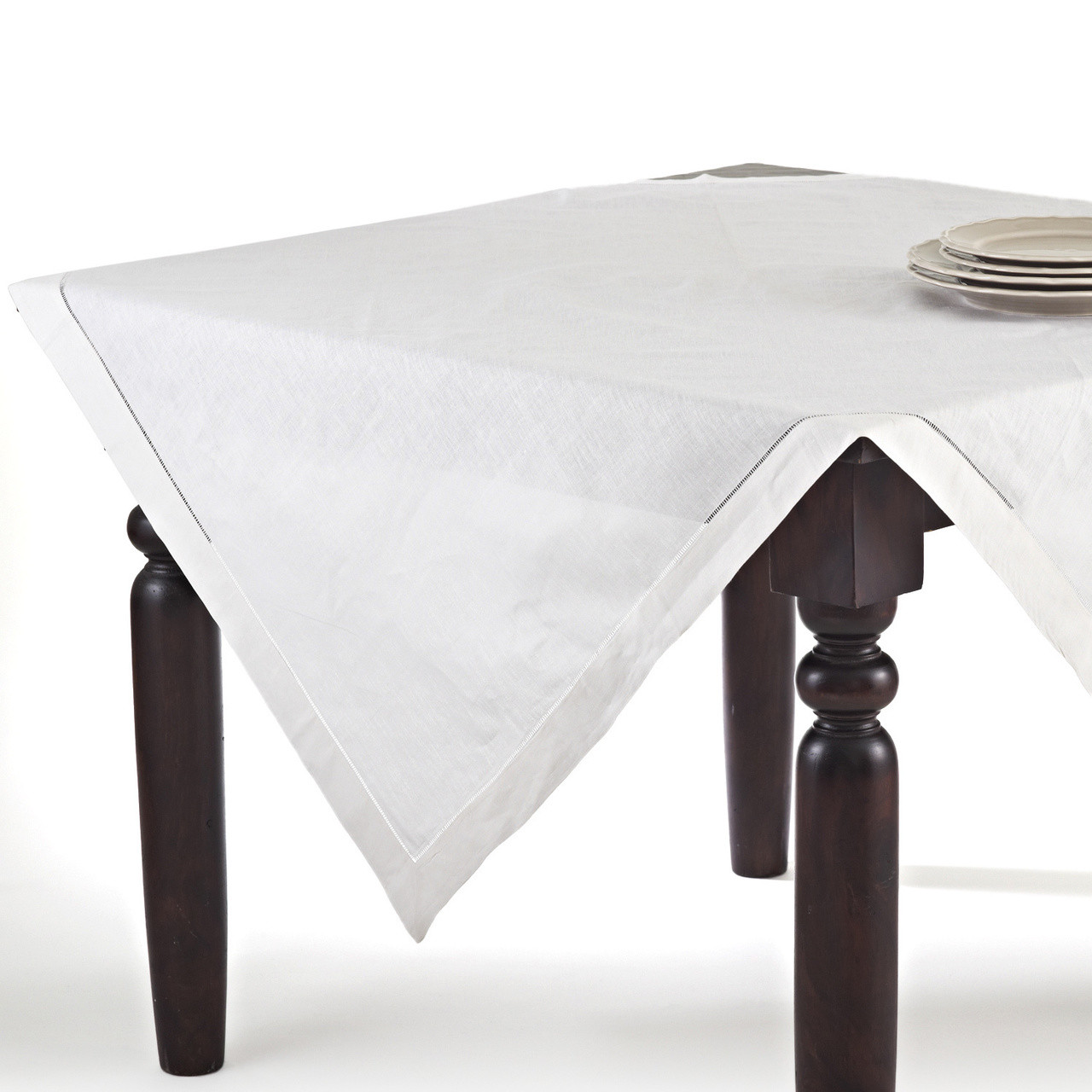 Fennco Styles Handmade Basic Hemstitch Linen Cotton Tablecloths