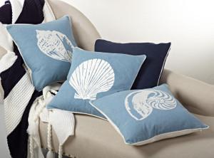 Seychelles Printed Shell Throw Pillow