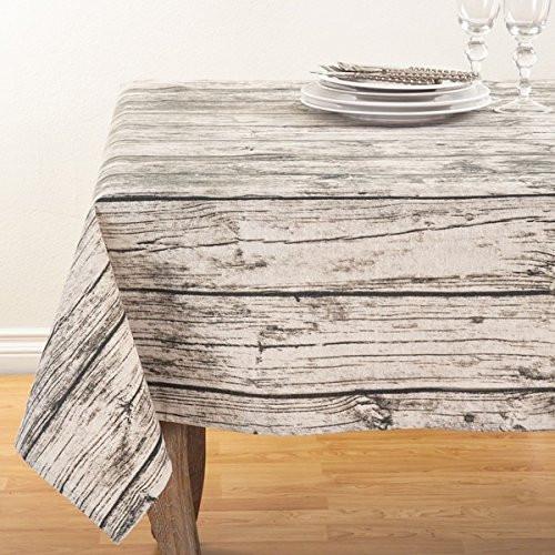 Fennco Styles Wood Plank Pattern Design Cotton Table Runner
