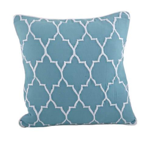 Stitched Moroccan Down Filled Decorative Throw Pillow