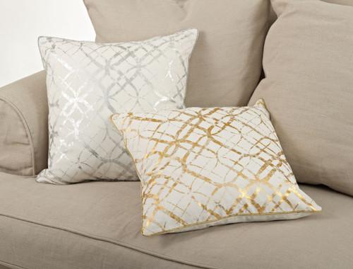 Lustrous Metallic Foil Throw Pillow