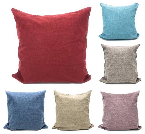 "Fennco Styles Plain Design Solid Color Decorative Cushion Case Pillow Cover 17"" Square"
