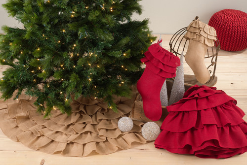 Ruffled Design Christmas Tree Skirt