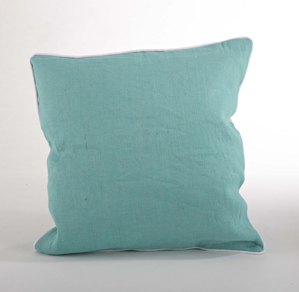 Lanai Classic Solid Down Filled Decorative Throw Pillow, 18-inch Square (Pear) www ...