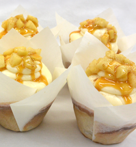Apple Pie Cupcakes with Caramel Drizzle