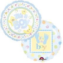 New Baby Boy Mylar Balloons (2)
