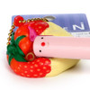 Café De N Dessert Squishy Toy Cellphone Charms - Milk Chocolate Sauce with Strawberry