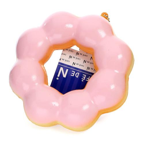 Café De N Strawberry Cream Pon de Ring Donut / Doughnut Super Soft Squishy Cellphone Charms