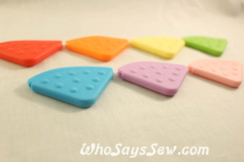 7 Angled Sew-On Teething Corners in 7 Colours