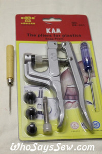 KAM Pliers+Awl for KAM Plastic Resin Snaps Sizes 14, 16 and 20
