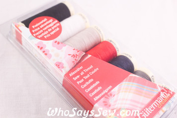Gutermann Sew-All Polyester Thread Set - 150M x 7 Spools/Shades