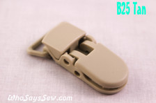B25 KAM plastic resin dummy clips 2cm Who Says Sew