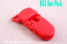 B33 KAM plastic resin dummy clips 2cm Who Says Sew