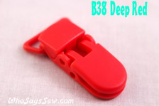 B38 KAM plastic resin dummy clips 2cm Who Says Sew
