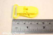 2.5cm KAM plastic resin dummy clips