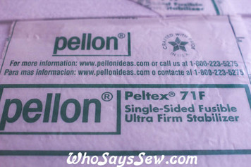Pellon Peltex 71F Ultra-Firm 1-Sided Fusible Interfacing