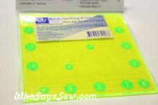 "4.5"" x 4.5"" anti-slip fluoro quilting ruler"