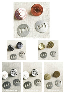 14mm OR 18mm Slim Line Magnetic Snap Buttons in Rose Gold/Shiny Nickel/Antique Brass/Light Gold/Gunmetal