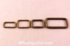 Wire Antique Bronze Rectangle Rings