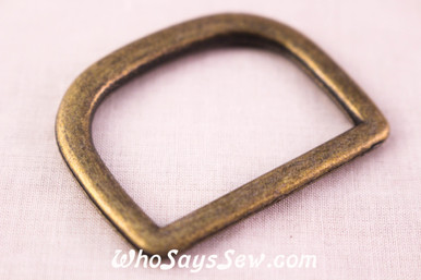 2 Alloy D-Rings in Antique Bronze. 3.5cm Wide