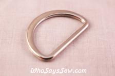 Alloy D-Rings in Shiny Nickel. 3cm Wide