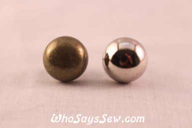 Large Dome Bag Feet in Antique Bronze or Shiny Nickel