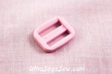 KAM Plastic Tri-Glides in Pastel Pink 1.5cm