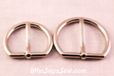 Alloy Buckles in Shiny Nickel. 2cm or 2.5cm