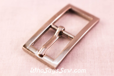 Small 1.5cm Alloy Buckles in Shiny Nickel.