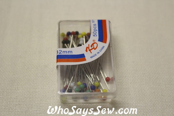50 Glass Headed Pins