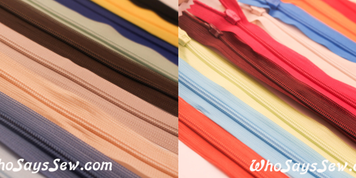 25cm Invisible Zipper in 20 Colours. Quality Brand